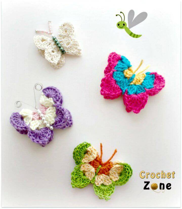 How To Free Crochet Pattern For Butterflies