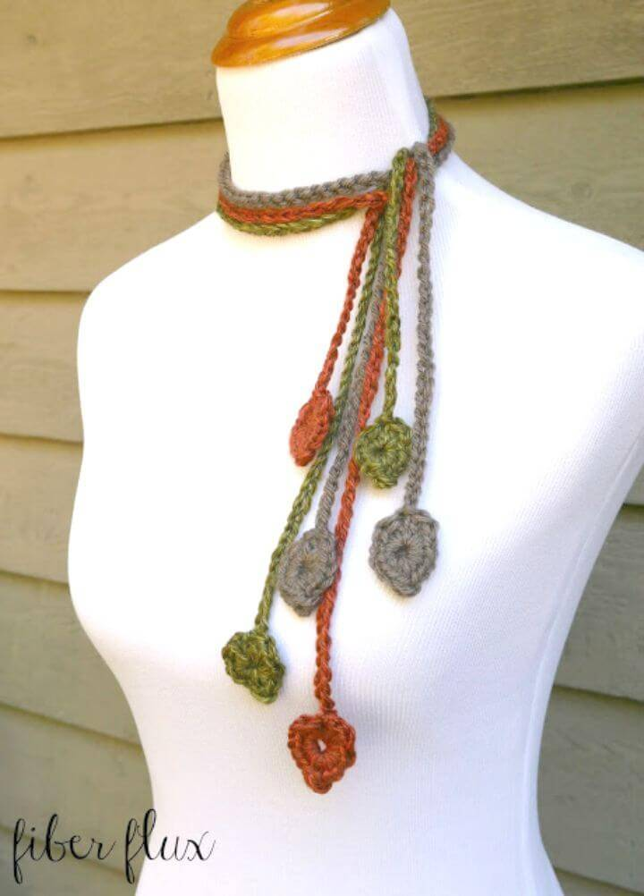 Free Crochet The Leafy Lariat Pattern