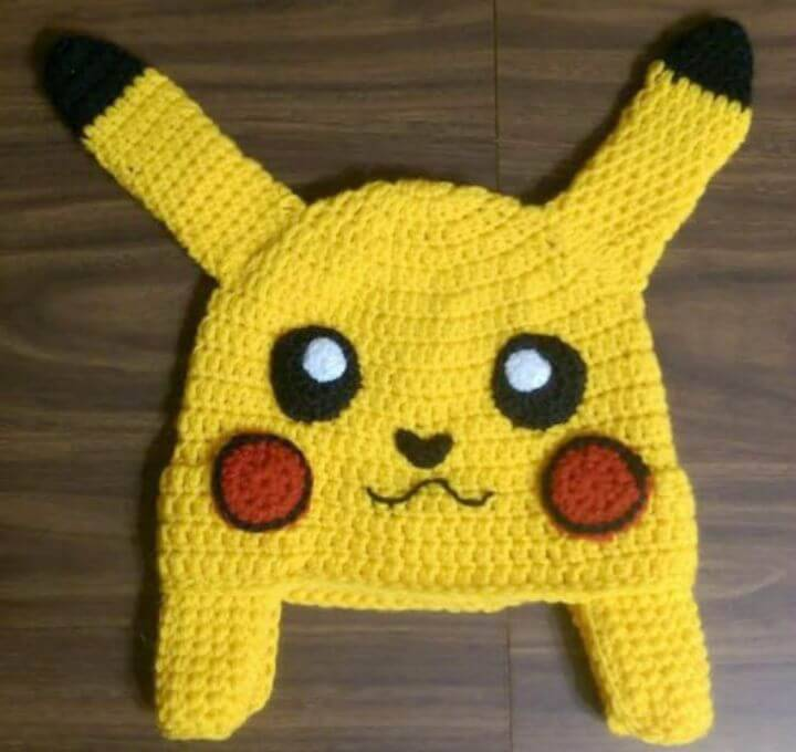 How To Free Crochet Pokemon Pikachu Inspired Hat Pattern