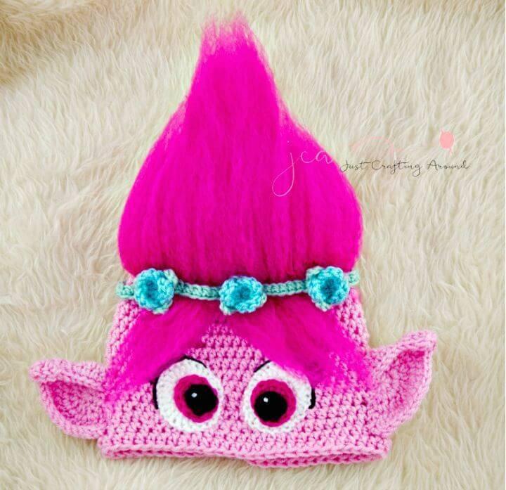Easy Crochet Poppy Hat - Free Pattern