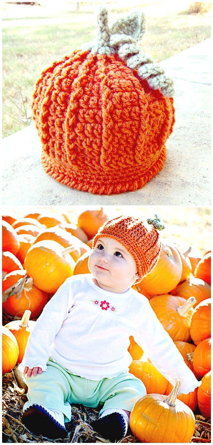 How To Free Crochet Pumpkin Harvest Hat Pattern