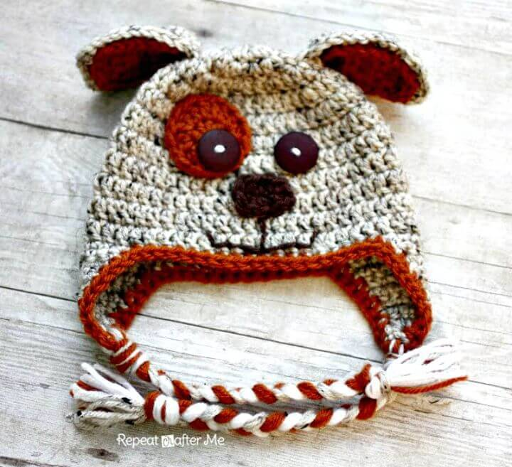 How To Free Crochet Puppy Hat Pattern