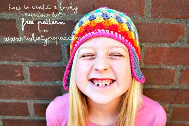 Free Rainbow Beany Hat Pattern