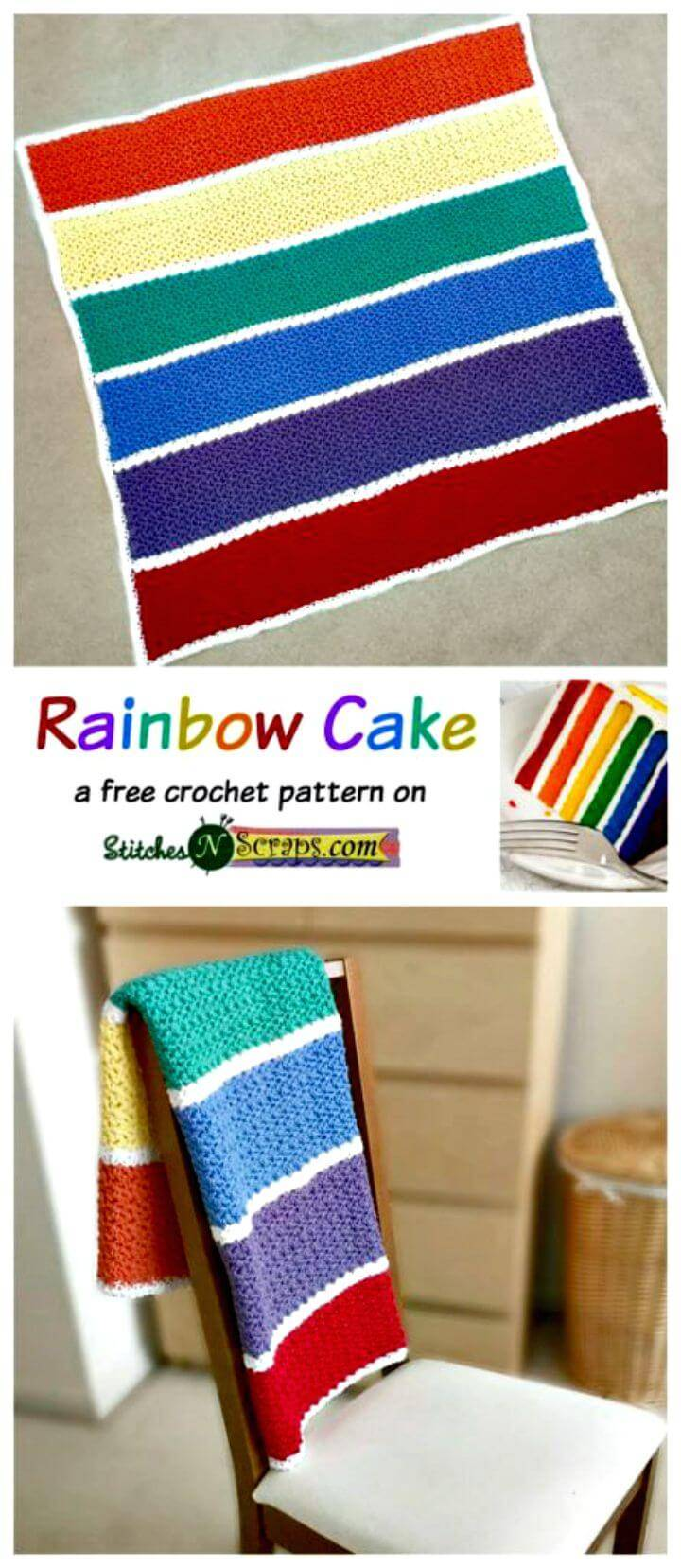 How To Free Crochet Rainbow Cake Pattern