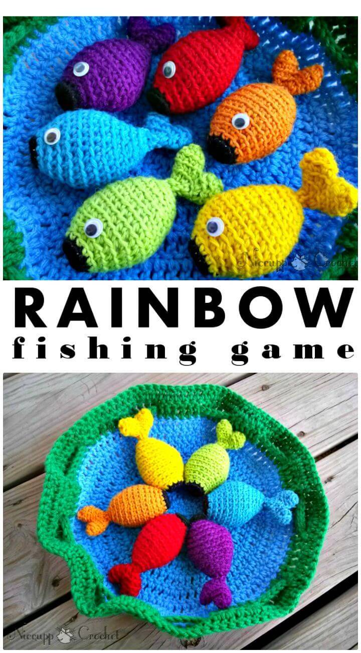 How to Crochet Rainbow Fishing Game Your Kids