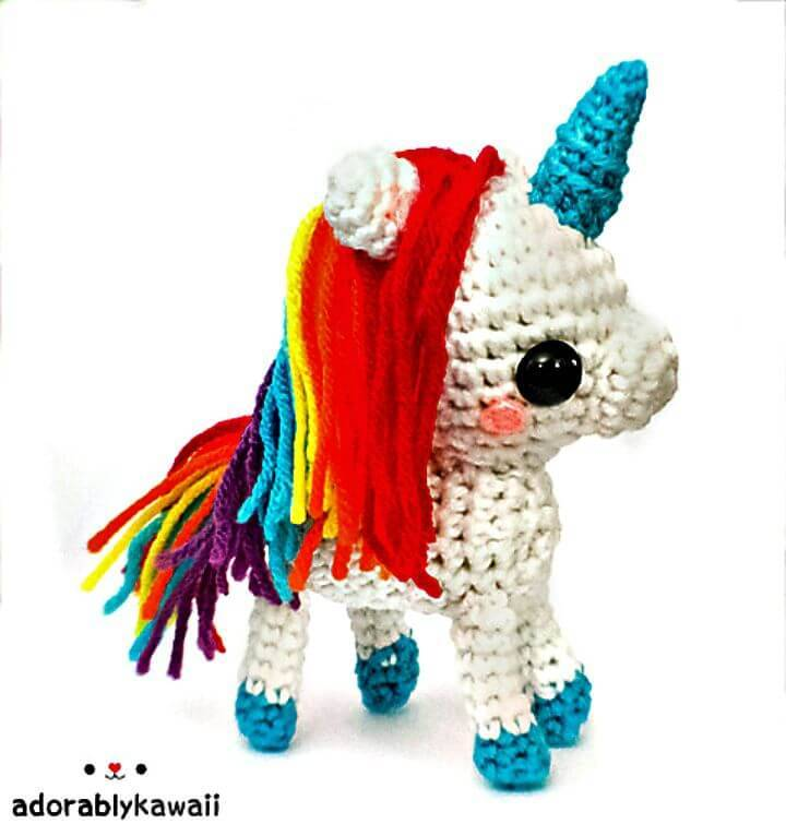 Free Crochet Rainbow Unicorn Amigurumi Pattern