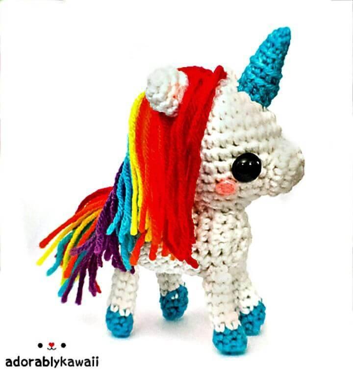 Free Crochet Rainbow Unicorn Amigurumi Pattern