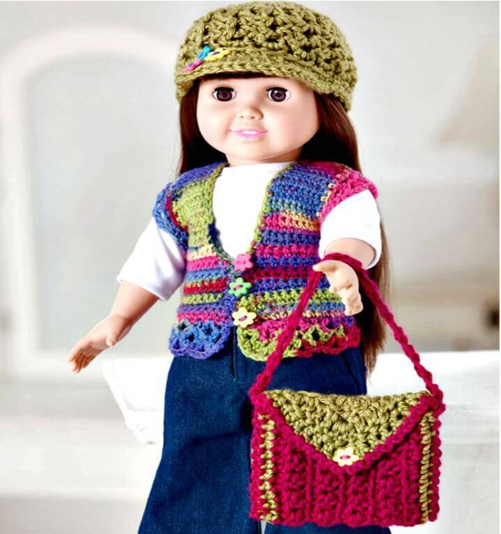 How To Easy Free Crochet Retro Doll Accessories Pattern