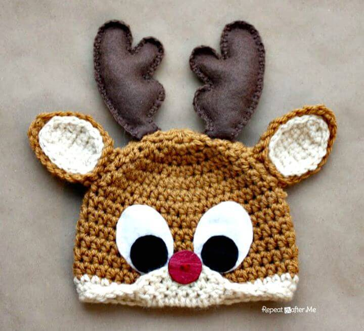 Free Rudolph The Reindeer Hat Pattern