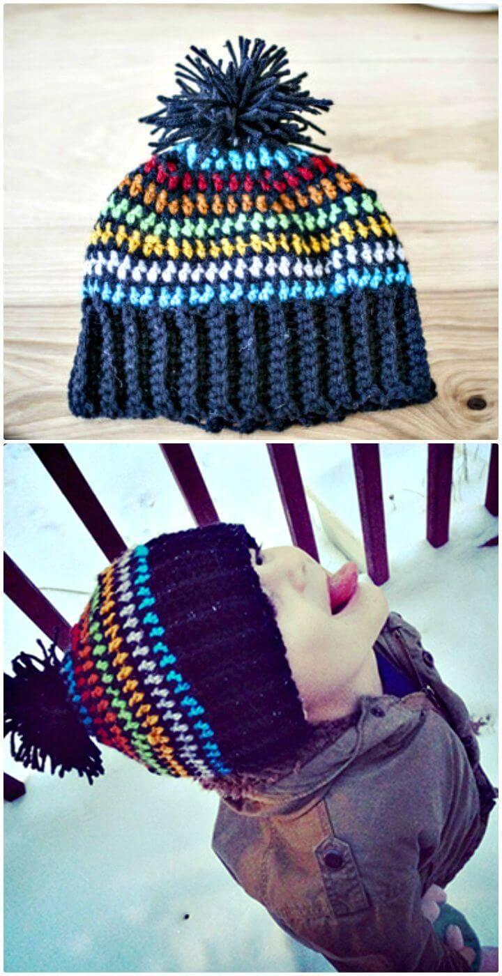 Crochet Scrappy Hat - Free Pattern