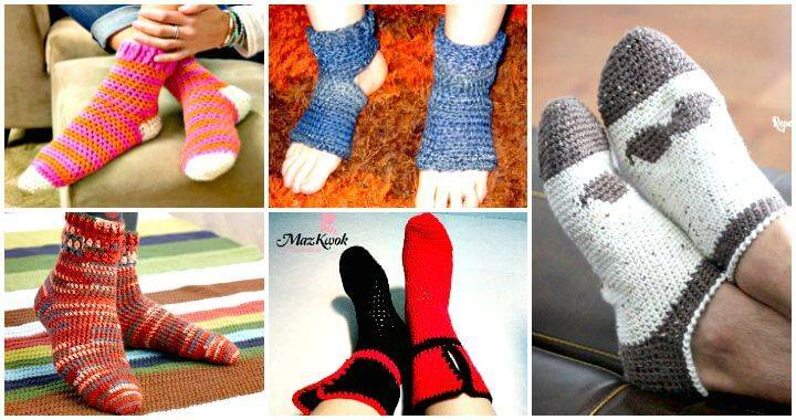 Crochet Socks 40 Free Crochet Socks Pattern DIY Crafts Impressive Crochet Sock Pattern