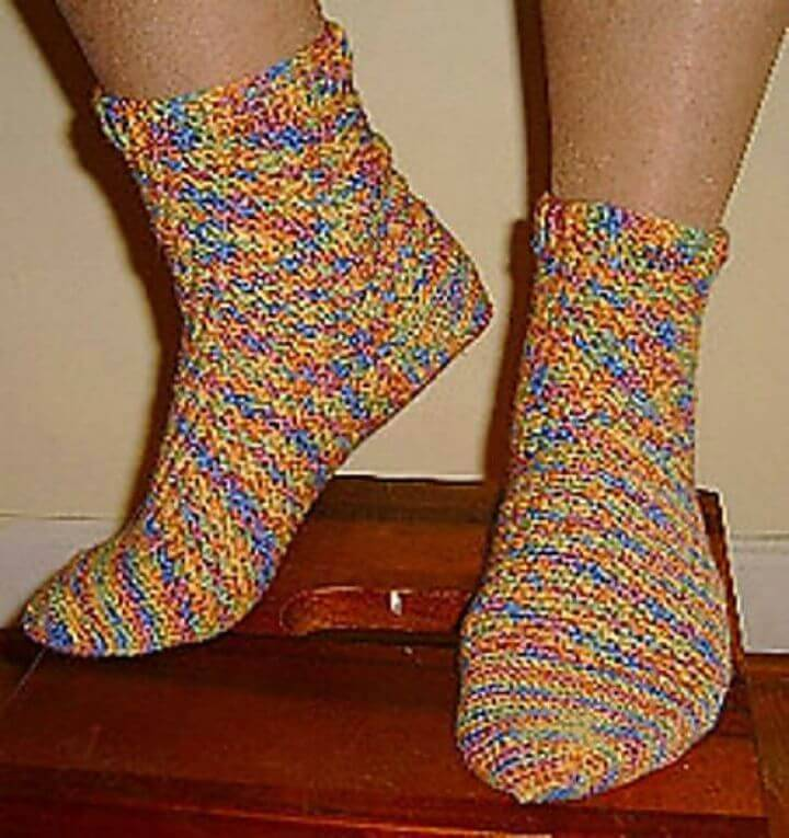 Easy Free Crochet Socks Step By Step Pattern