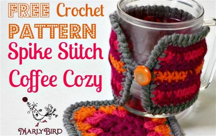 Free Crochet Spike Stitch Coffee Cozy Pattern