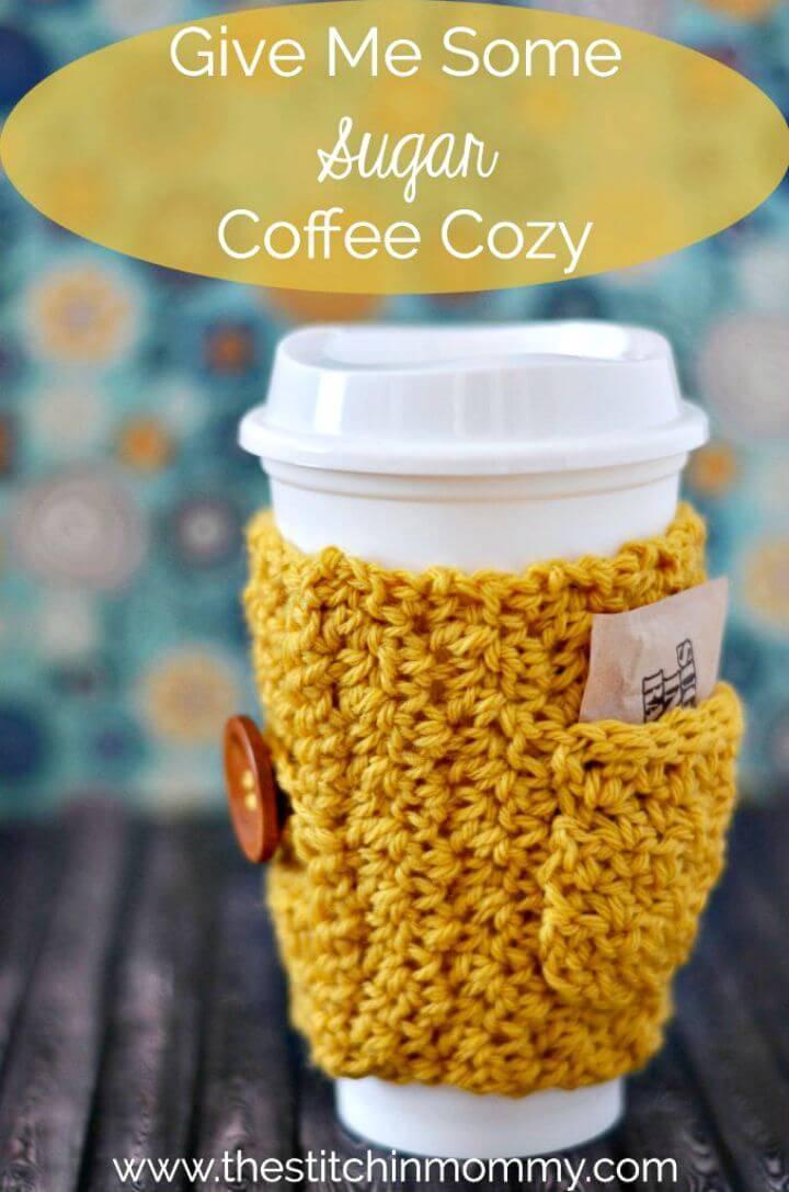 How To Free Crochet Sugar Coffee Cozy Pattern