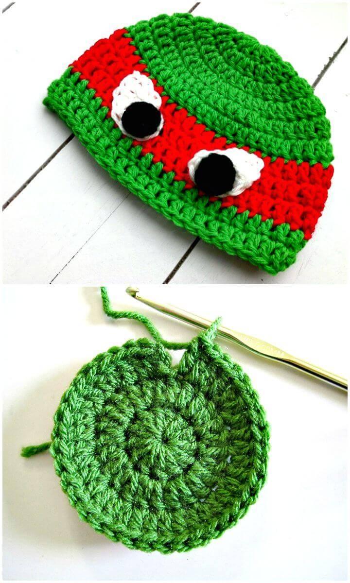 Easy Free Crochet TMNT Hat Pattern