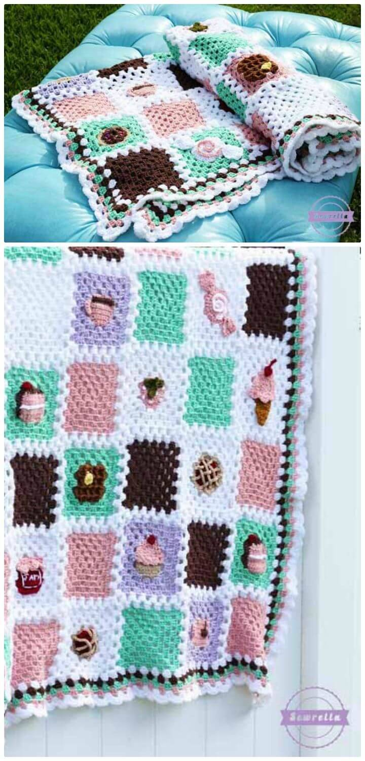 How To Free Crochet The Bake Shop Blanket Series Pattern