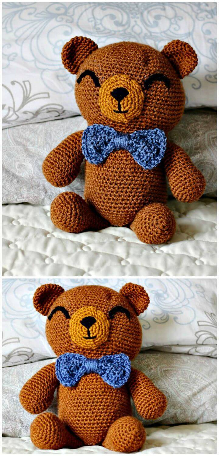 How To Free Crochet The Cuddliest Bear Pattern