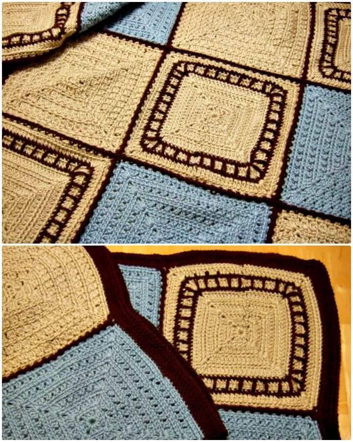 Easy Free Crochet Train Tracks Baby Blanket Pattern