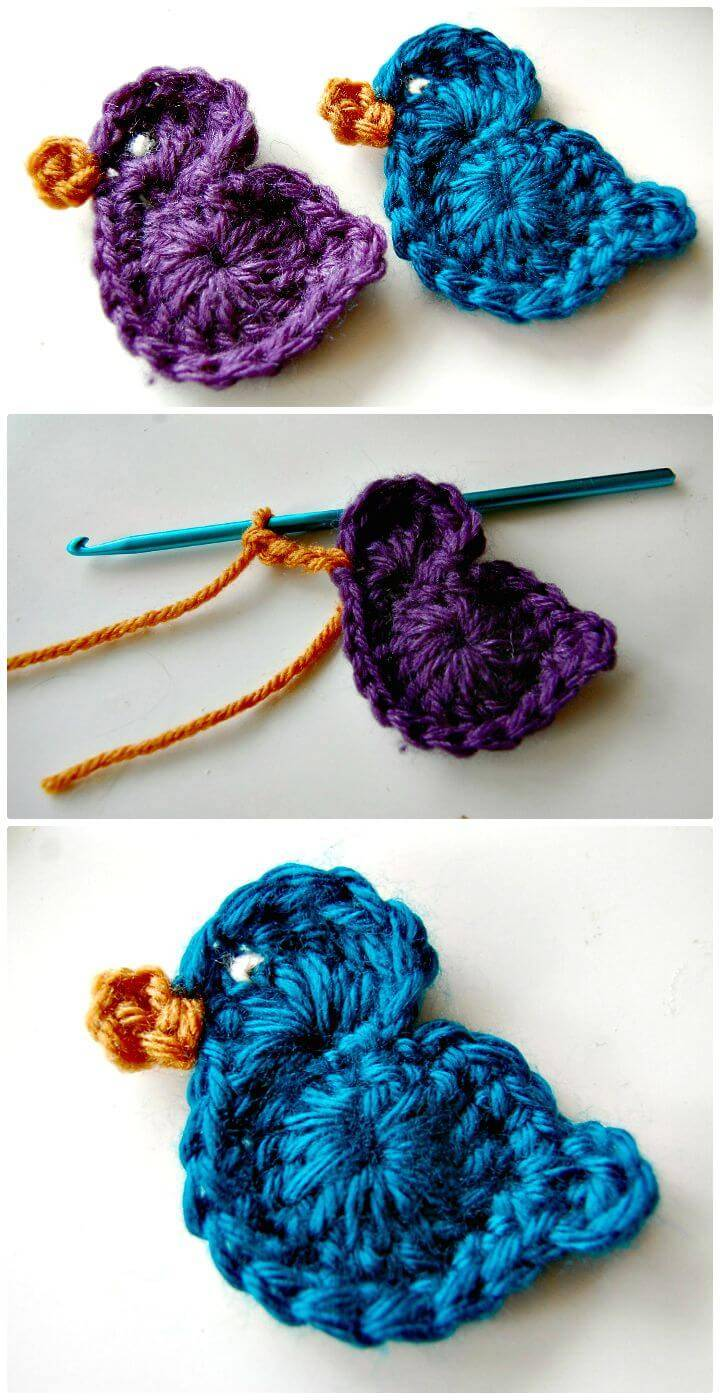 How To Free Crochet Two Birds Patterns