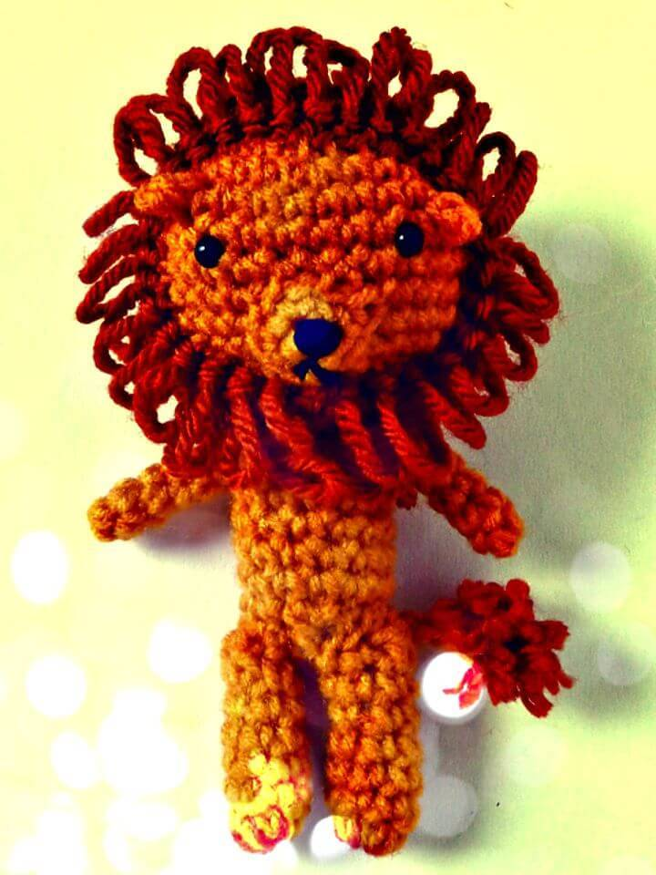 How To Crochet Wizard Of Oz Cowardly Lion - Free Pattern