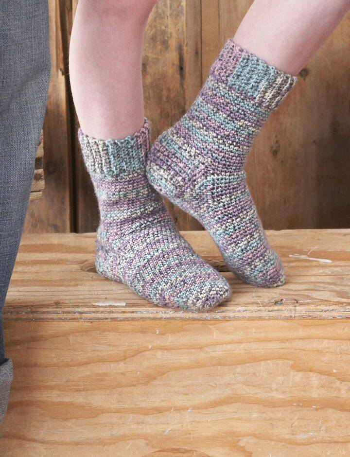 How To Free Crochet Women's Socks Pattern
