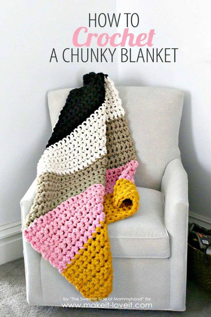 How To Free Crochet a Chunky Blanket Pattern