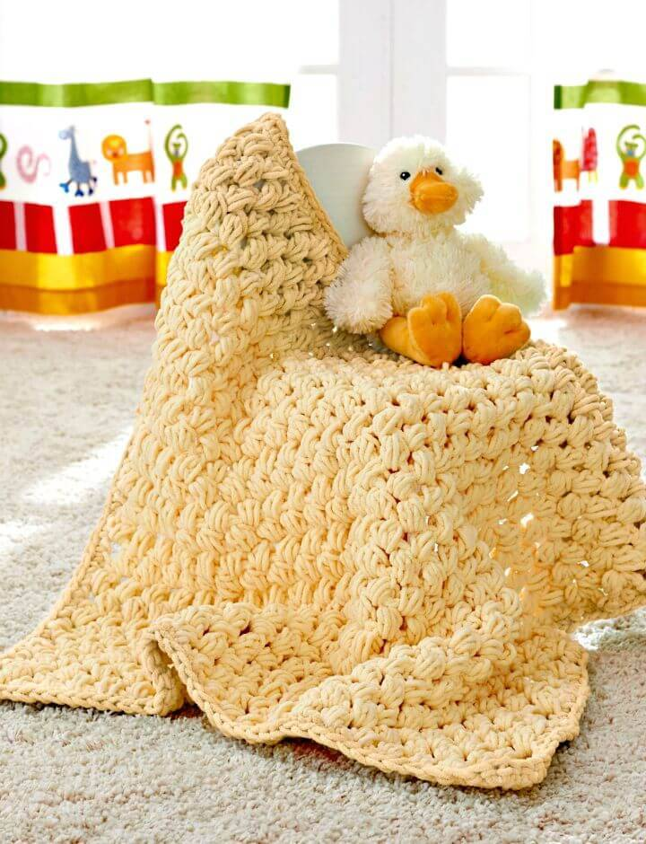 Easy Baby's Lovey Blanket - Free Crochet Pattern