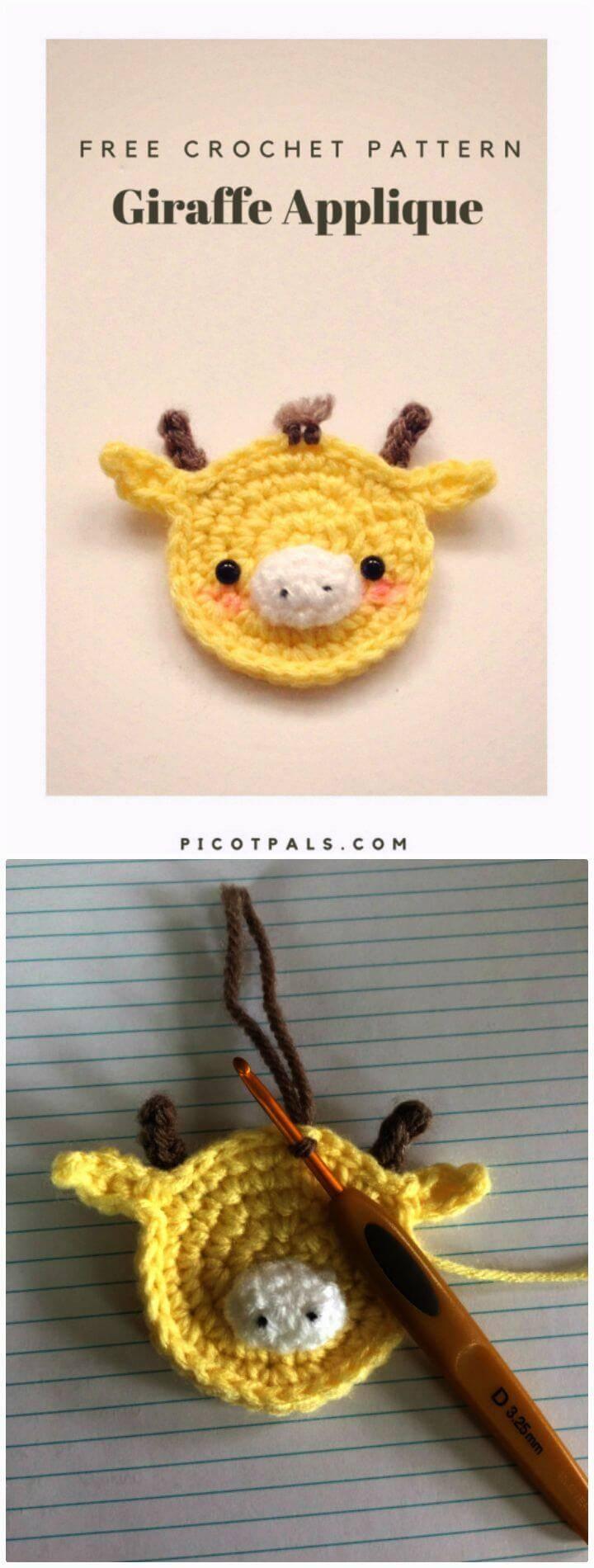 Free Giraffe Applique Crochet Pattern