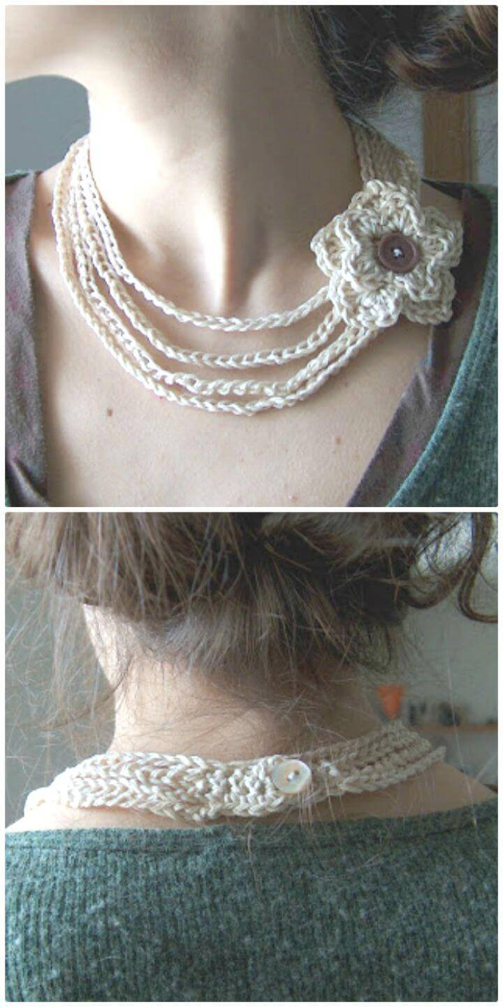Free Pattern's Outline For A Crochet Necklace