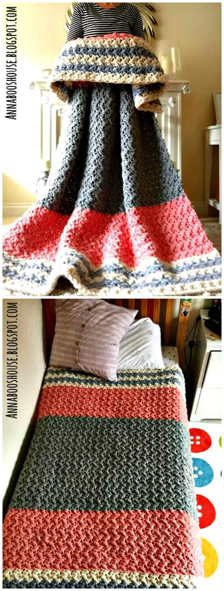 Free crochet The Enormous Squishy Blanket Pattern