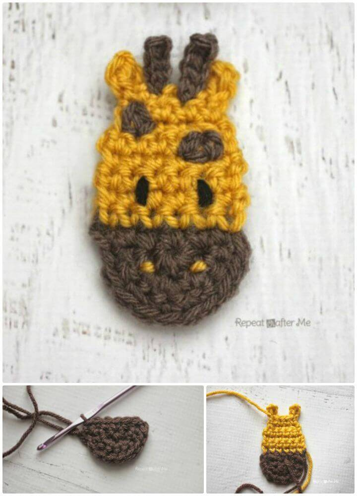 G Is For Giraffe - Crochet Giraffe Applique