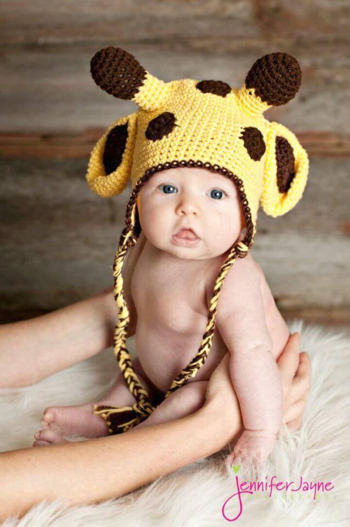 Giraffe Crochet Hat - Free Pattern