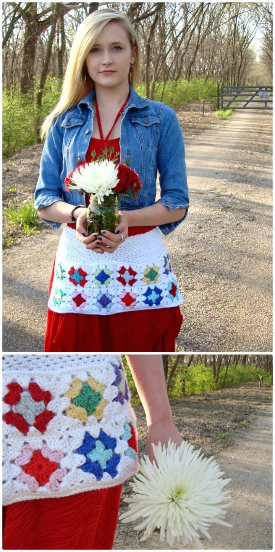 Free Crochet Granny's Market Apron Pattern