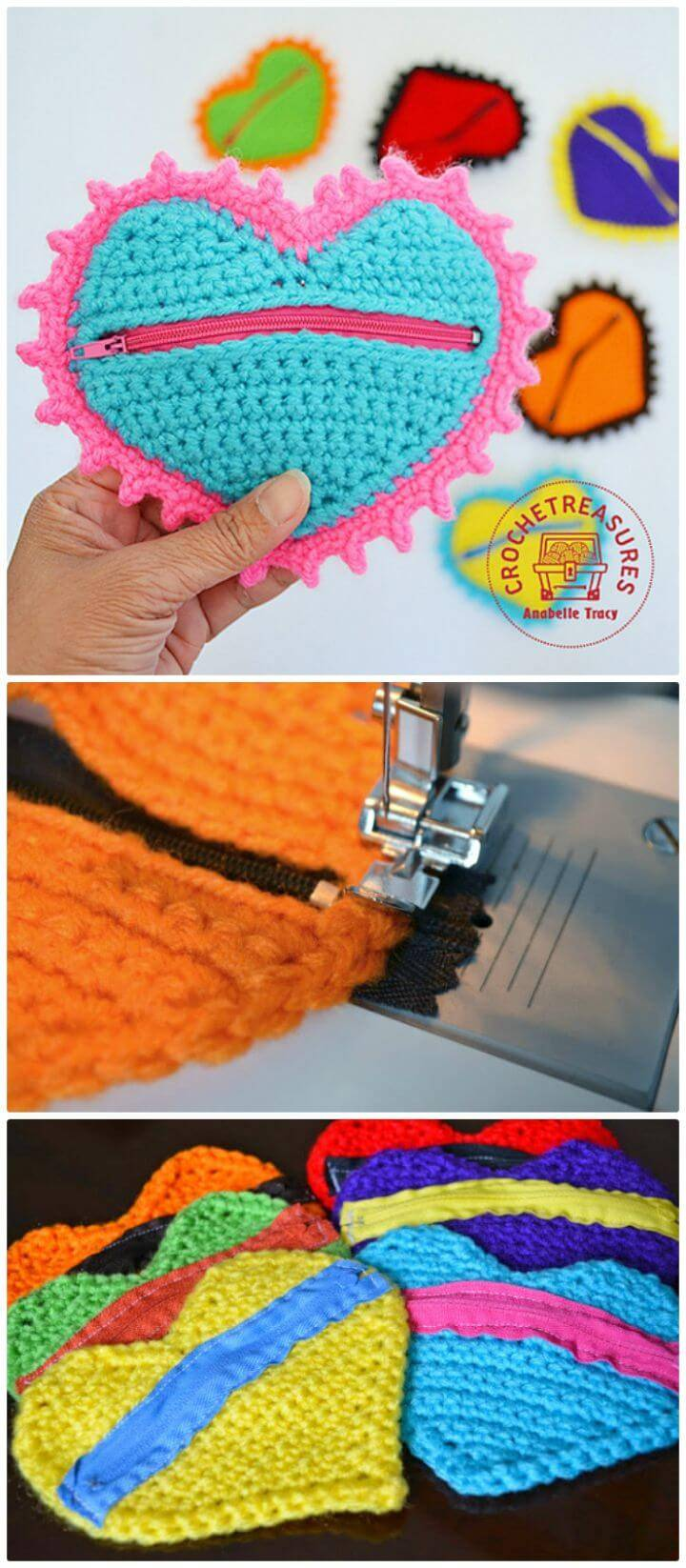Free Crochet Heart Coin Purse Pattern