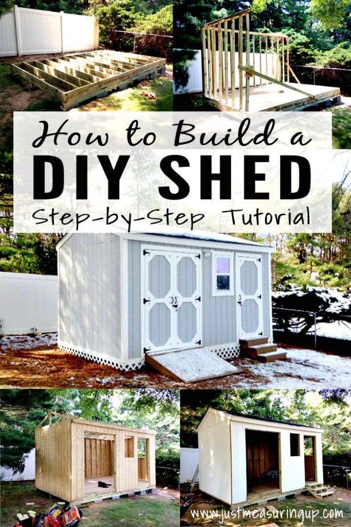 Build A Storage Shed - Step By Step Tutorial