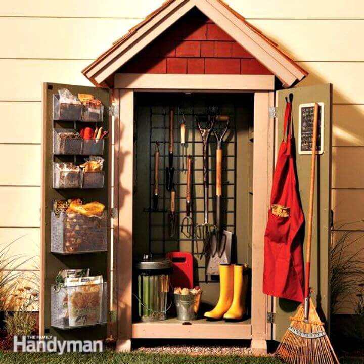 Easy Build Garden Closet Storage Project