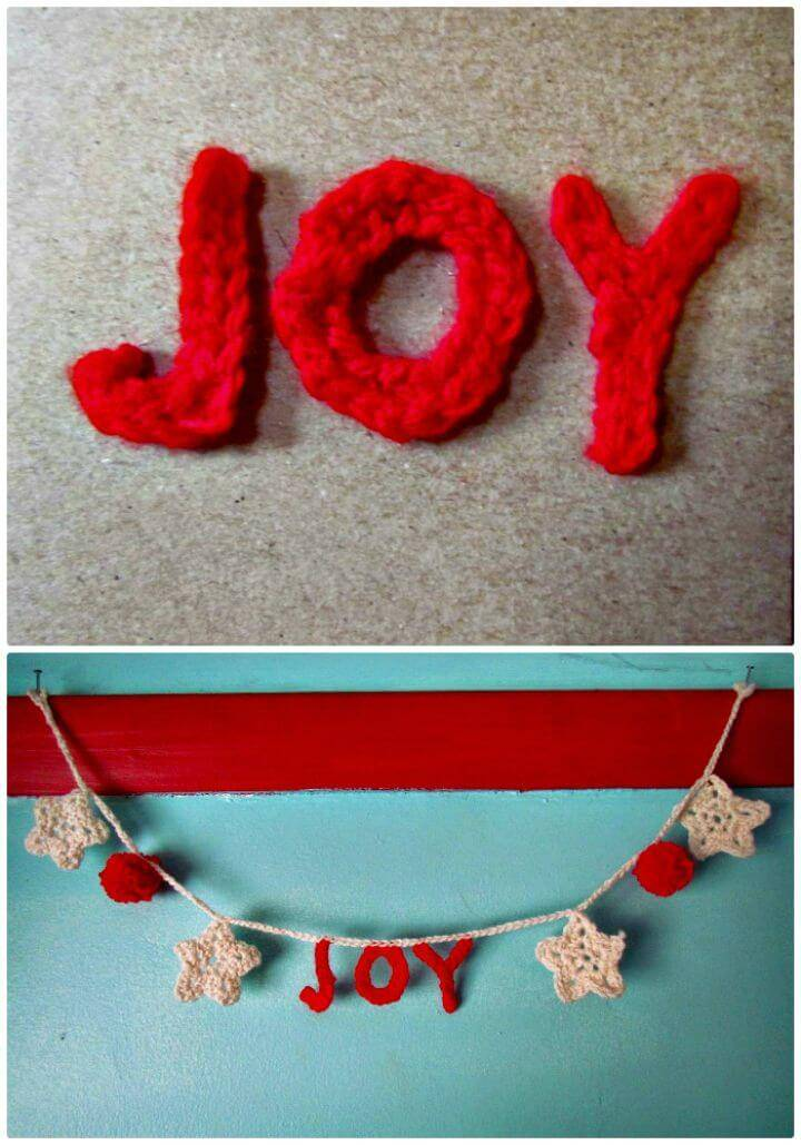 Christmas Garland With Free Crochet Words