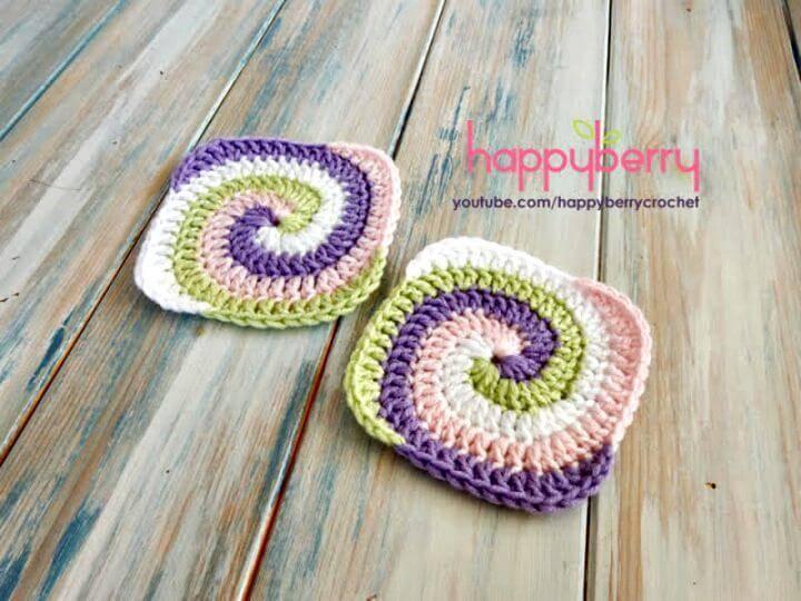 Free Crochet A Spiral Granny Square Pattern