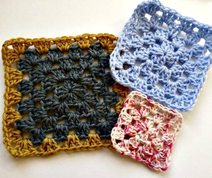 How To Free Crochet Granny Squares Pattern