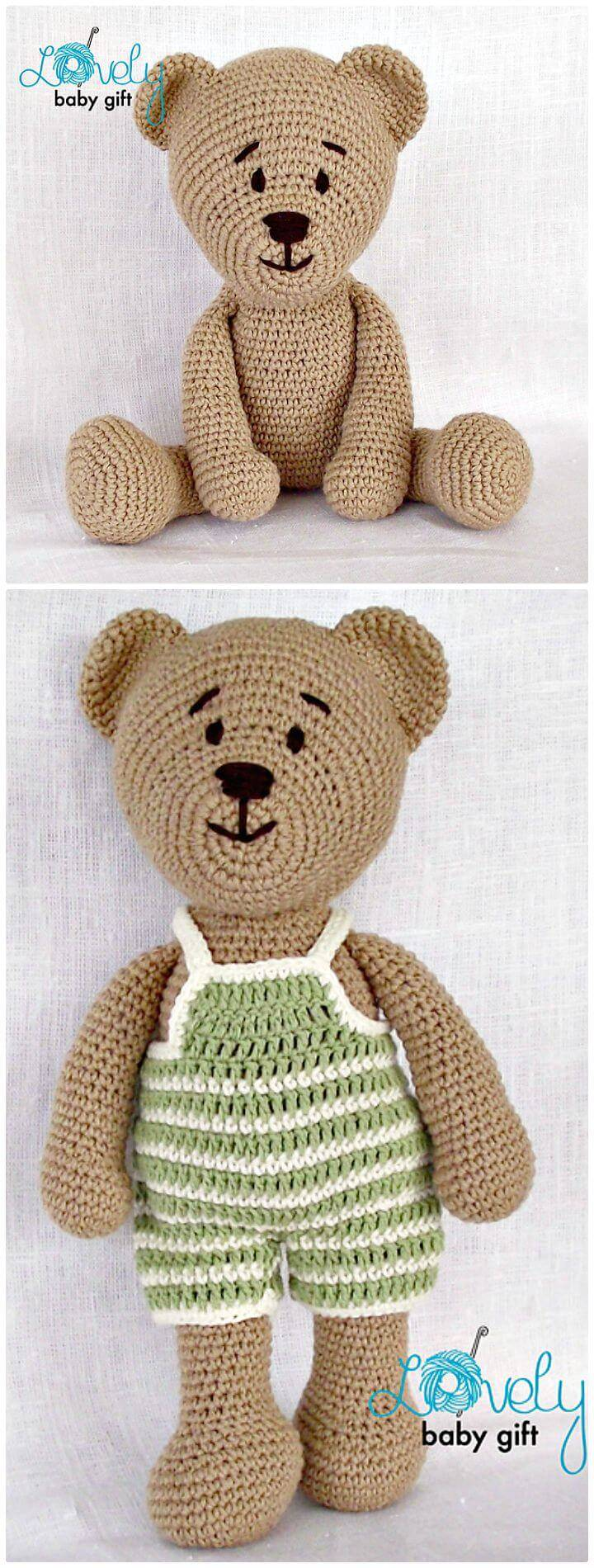 How To Crochet Teddy Bear - Free Pattern