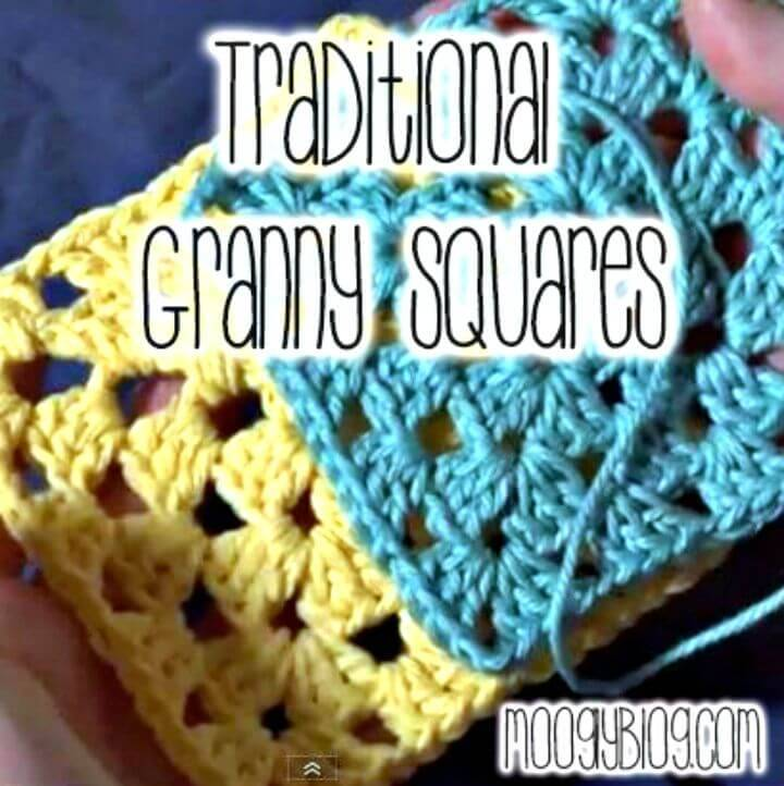 Crochet The Traditional Granny Square - Free Pattern