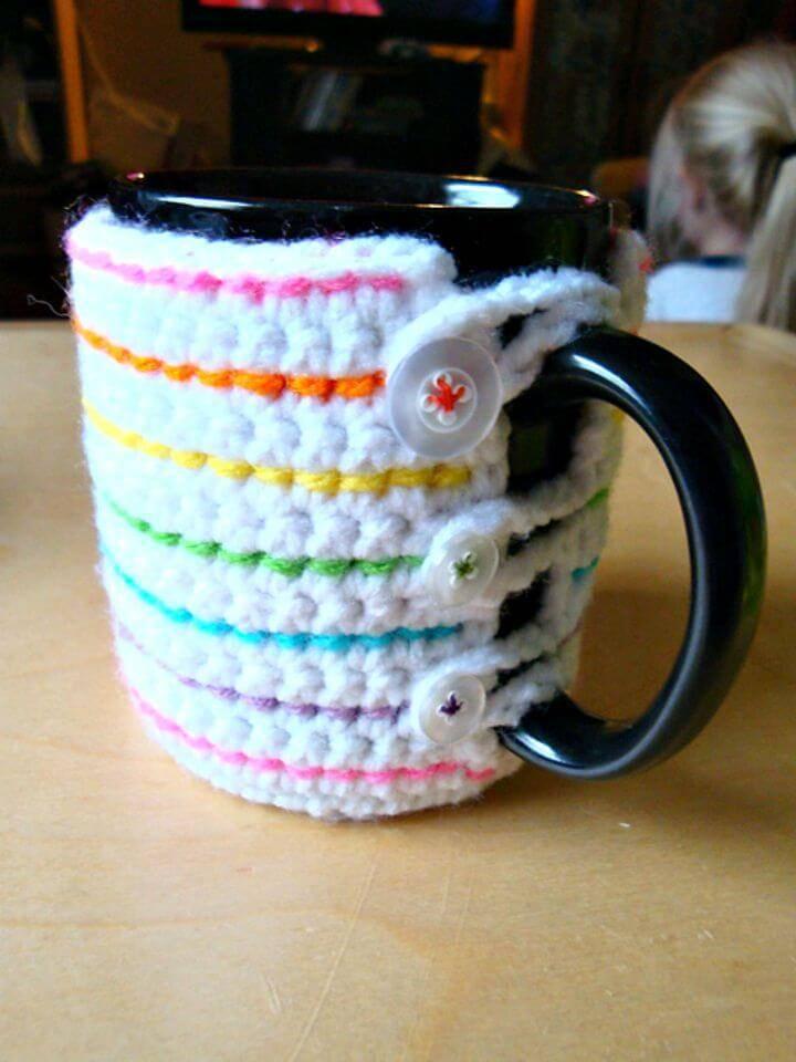 Easy Free Crochet Coffee Mug Cozy Pattern