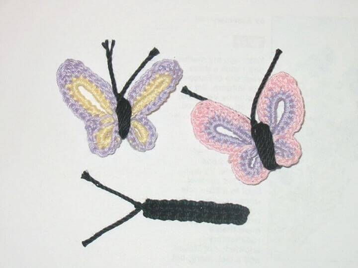 How To Easy Free Crochet Butterflies Pattern