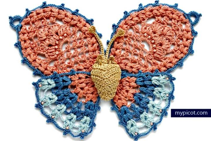 How To Easy Free Crochet Butterfly Pattern