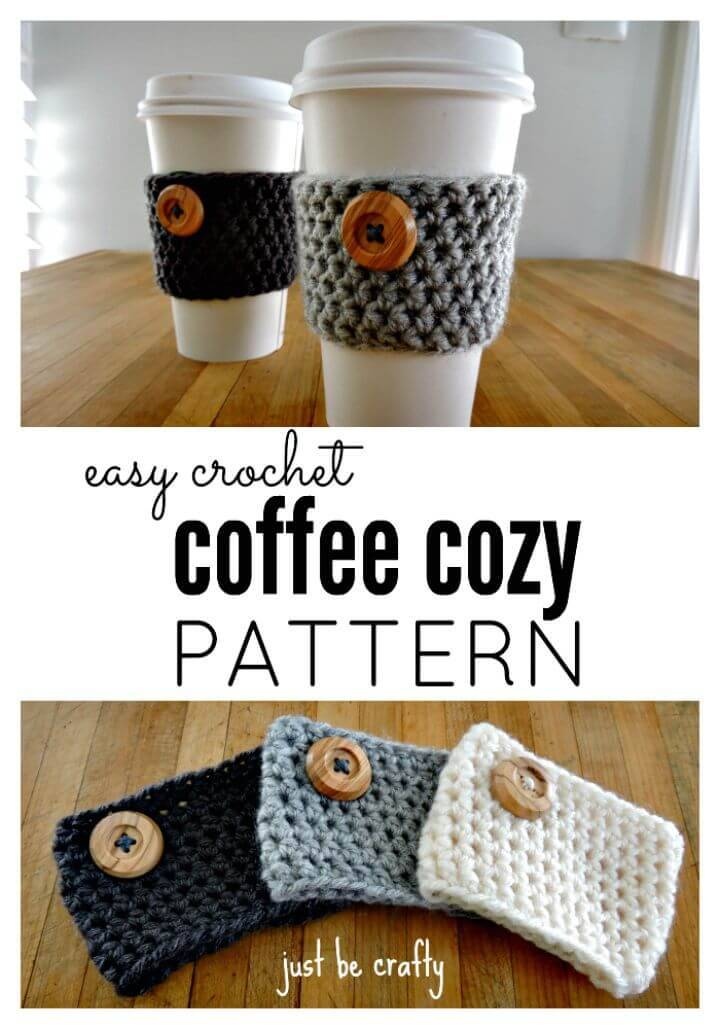 How To Free Crochet Coffee Cozy Pattern