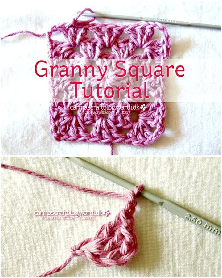 Easy Free Crochet Granny Square Tutorial + Pattern