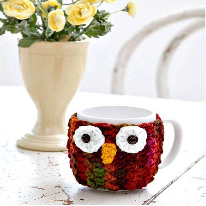 Free Crochet Sowl Mug Wrap Pattern
