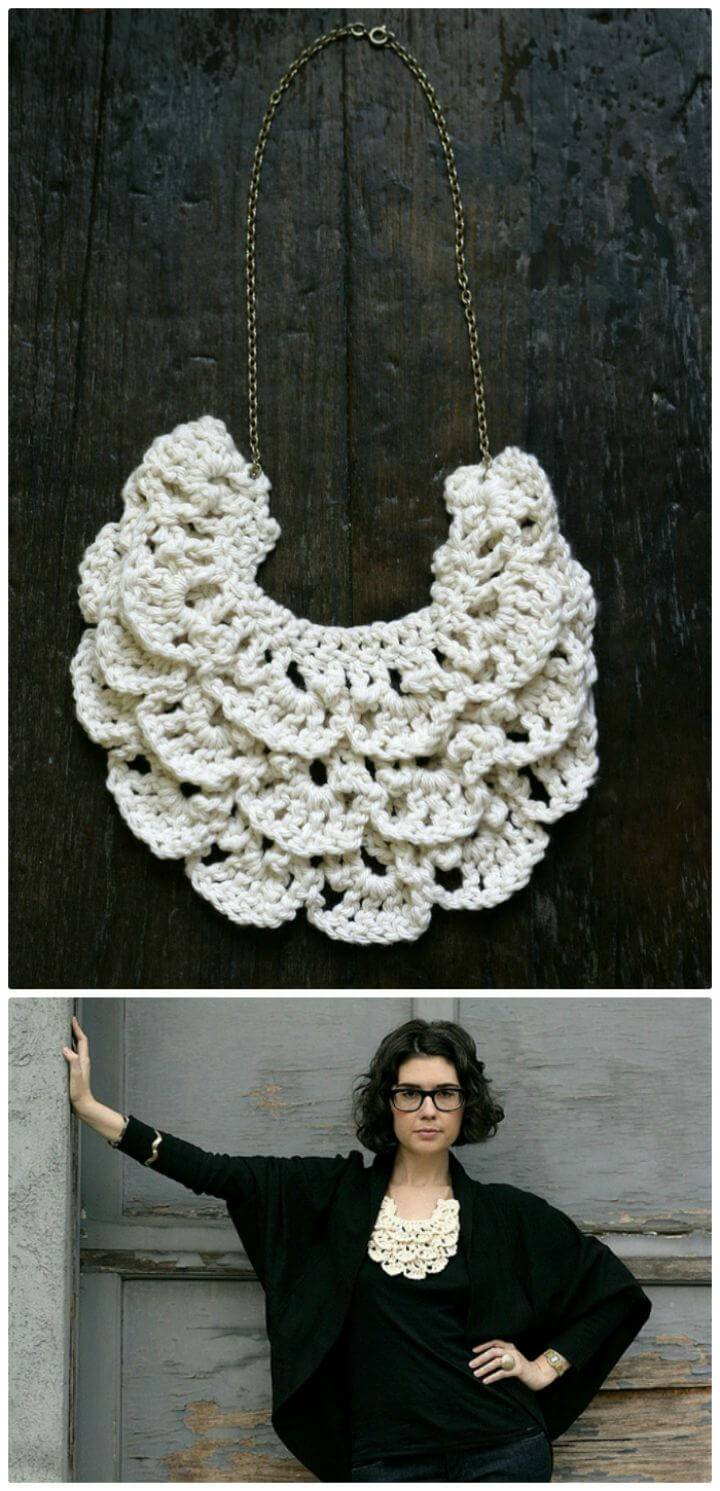 How To Free Crochet Bib Necklace Pattern