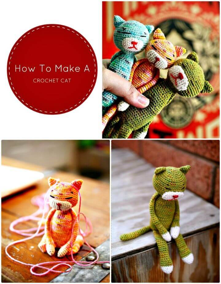How To Make A Crochet Cat - Free Pattern