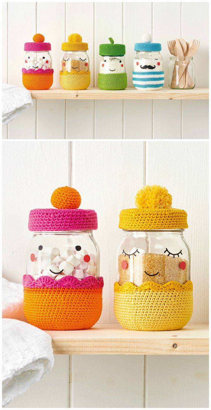 Free Crochet Jar Cover Pattern